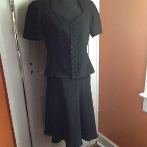 Black 2Pc Skirt Suit Size 8